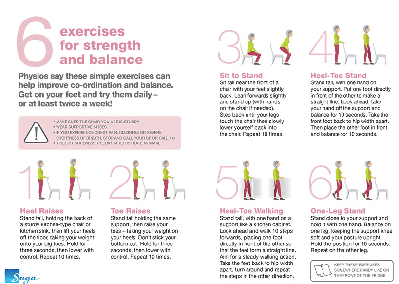 6 Exercises for Strength and Balance PDF