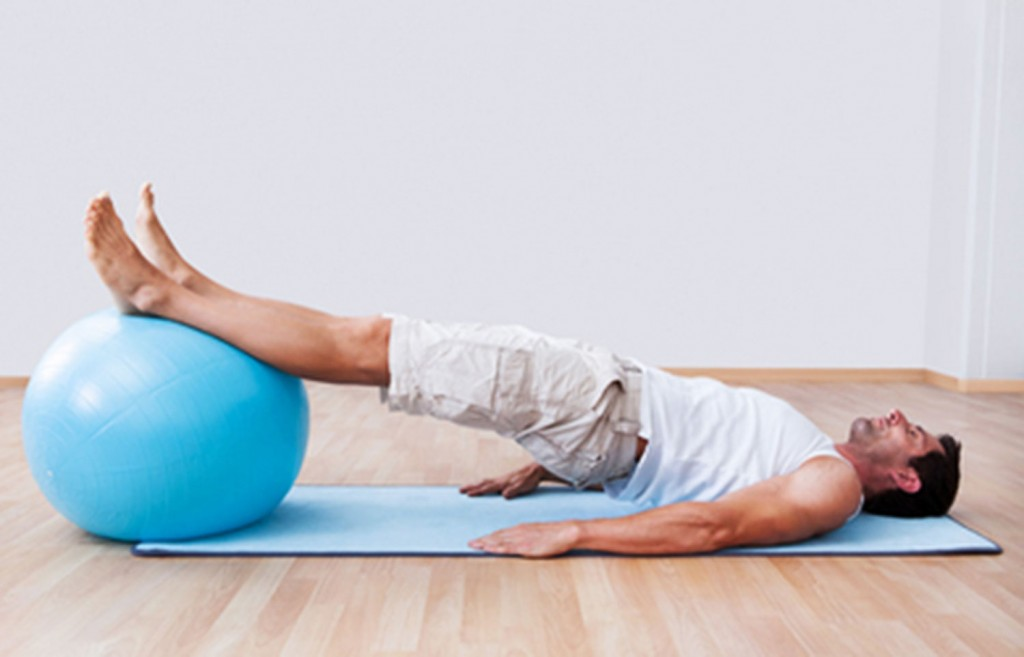 Pilates with gymball