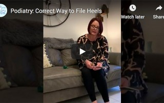 Podiatry: file heels correctlly